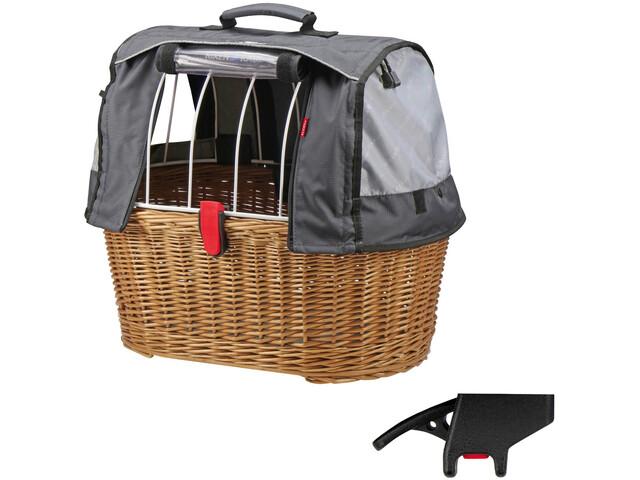 KlickFix Doggy Basket Plus Cykelkurv KorbKlip grå/brun (2019) | Bike baskets
